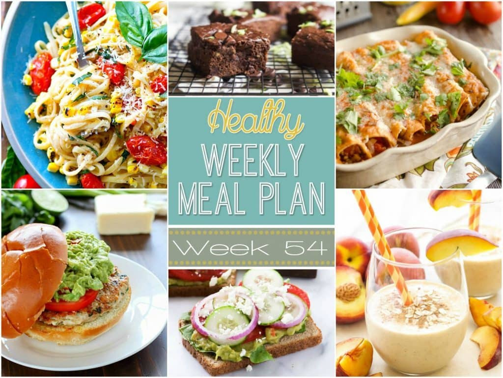Healthy Dinners For The Week  Healthy Weekly Meal Plan 54 Yummy Healthy Easy