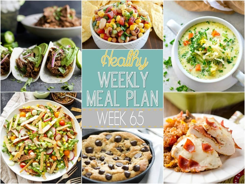 Healthy Dinners For The Week  Healthy Weekly Meal Plan 65 Yummy Healthy Easy