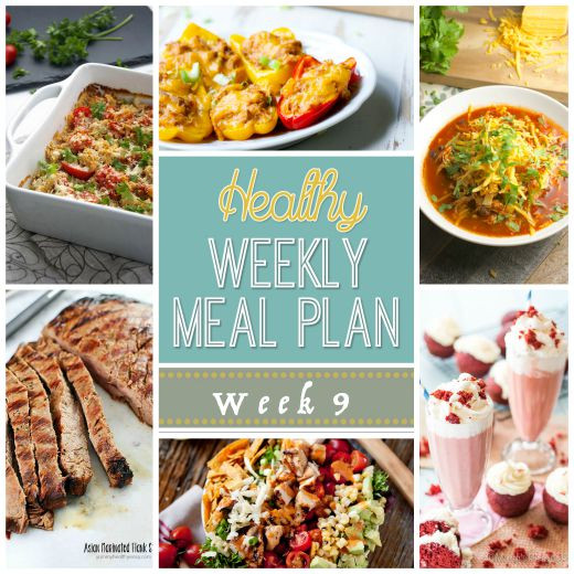 Healthy Dinners For The Week  Healthy Weekly Meal Plan 9 Yummy Healthy Easy