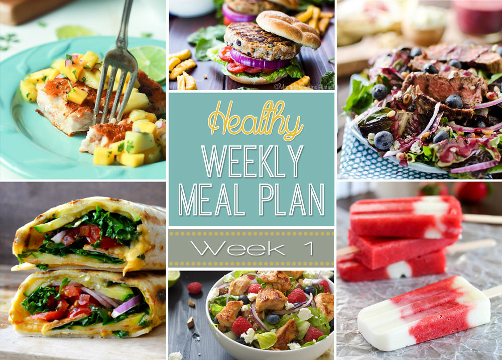 Healthy Dinners For The Week  Weekly Healthy Meal Plan 1 Yummy Healthy Easy
