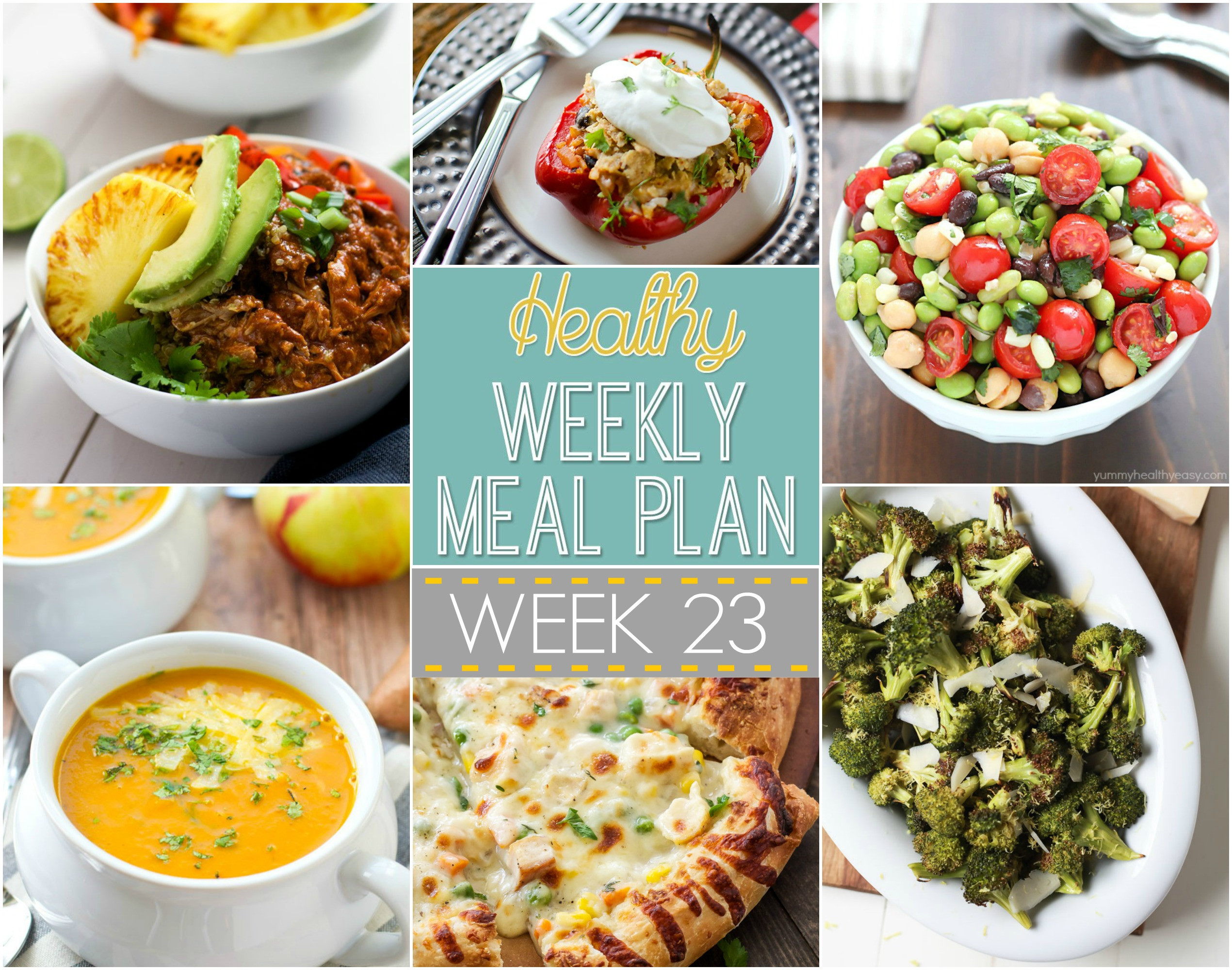 Healthy Dinners For The Week  Healthy Weekly Meal Plan 23 Recipe Runner