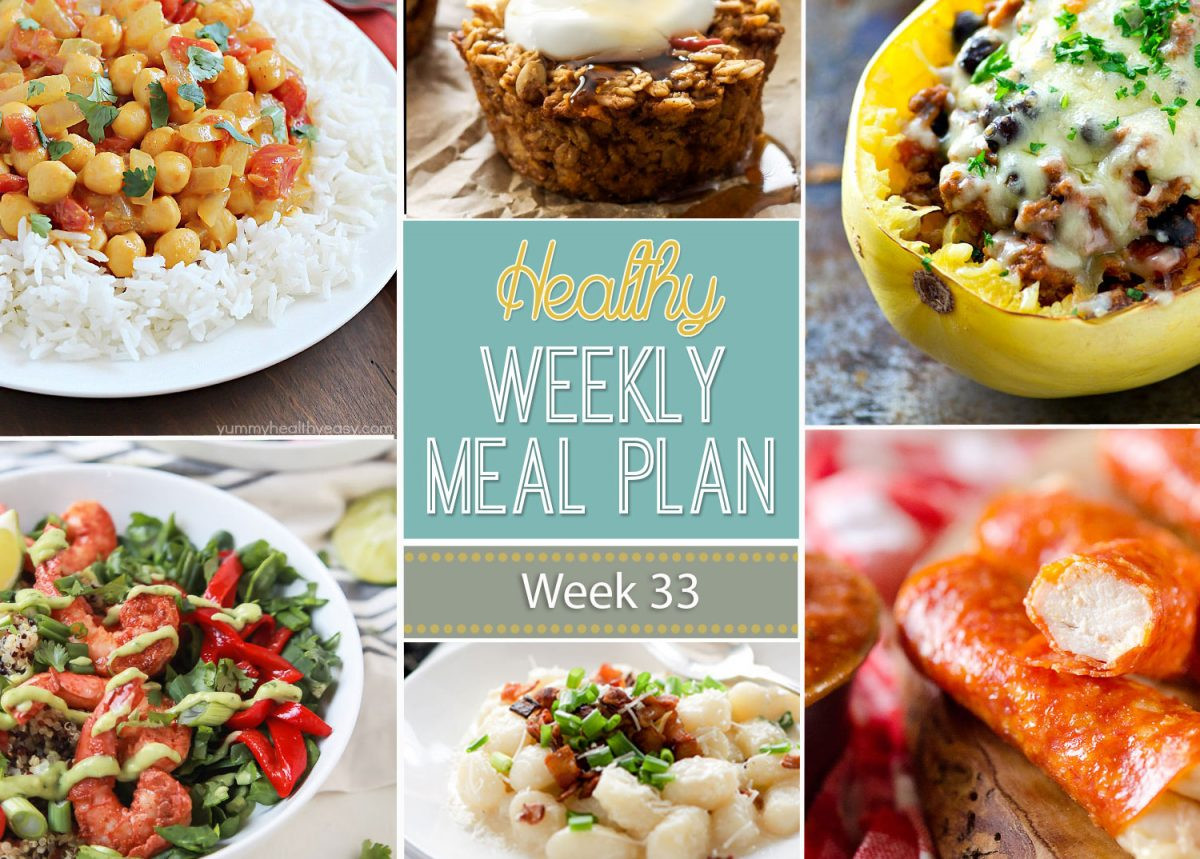 Healthy Dinners For The Week  Healthy Weekly Meal Plan 33