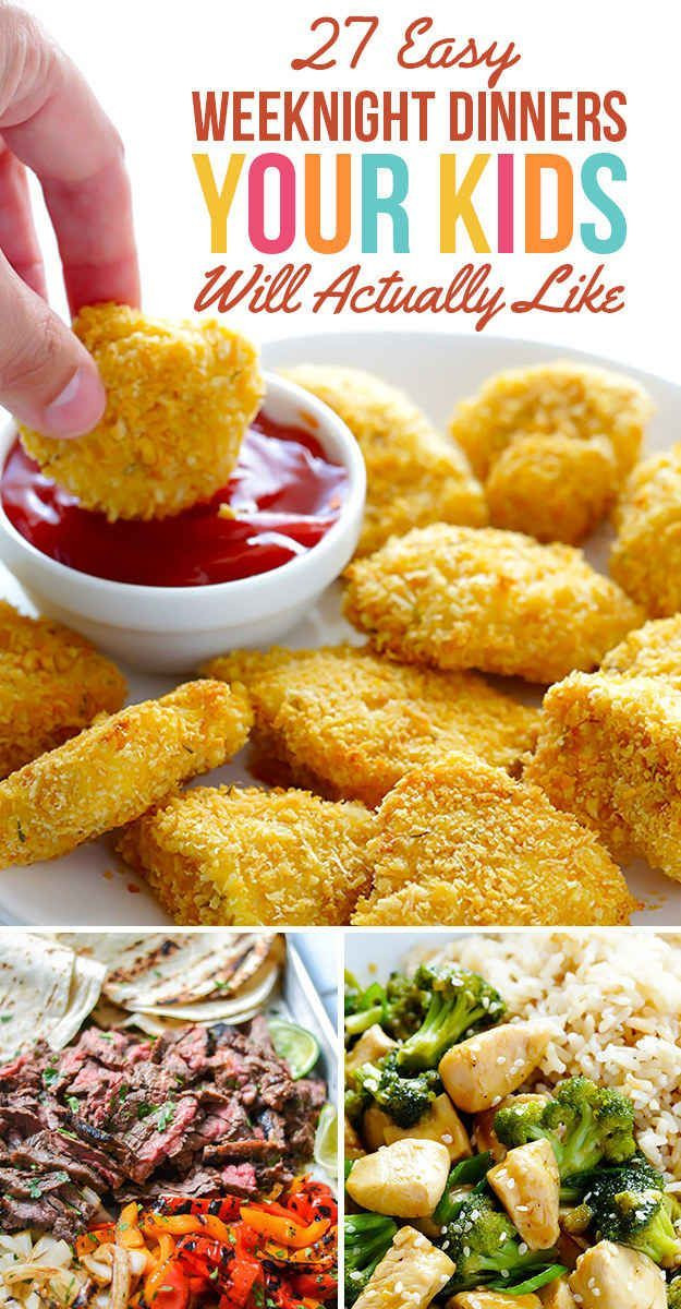 Healthy Dinners Kids Like  27 Easy Weeknight Dinners Your Kids Will Actually Like