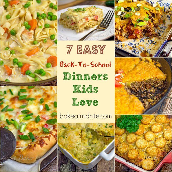 Healthy Dinners Kids Love  7 Easy Back To School Dinners Kids Love The Midnight Baker
