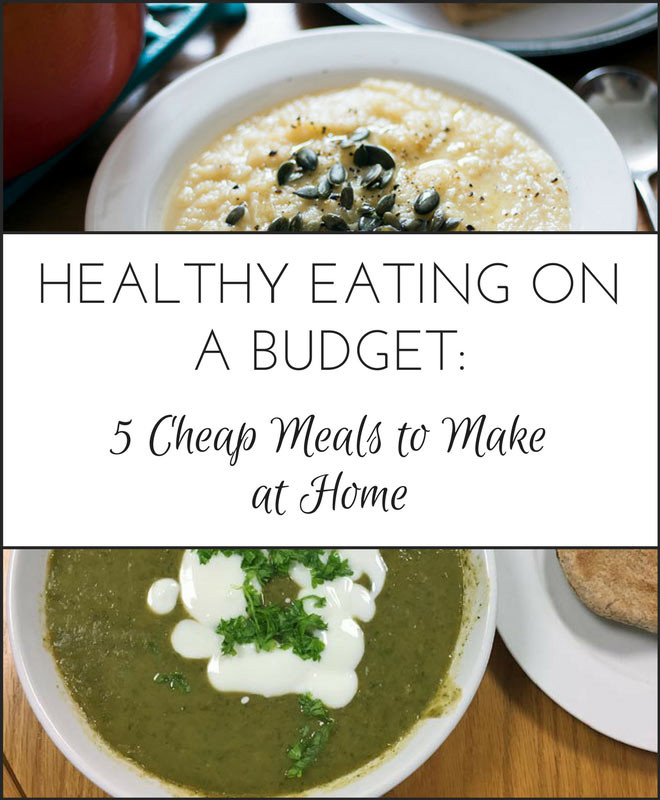 Healthy Dinners To Make At Home  Healthy Eating on a Bud 5 Cheap Meals to Make at Home