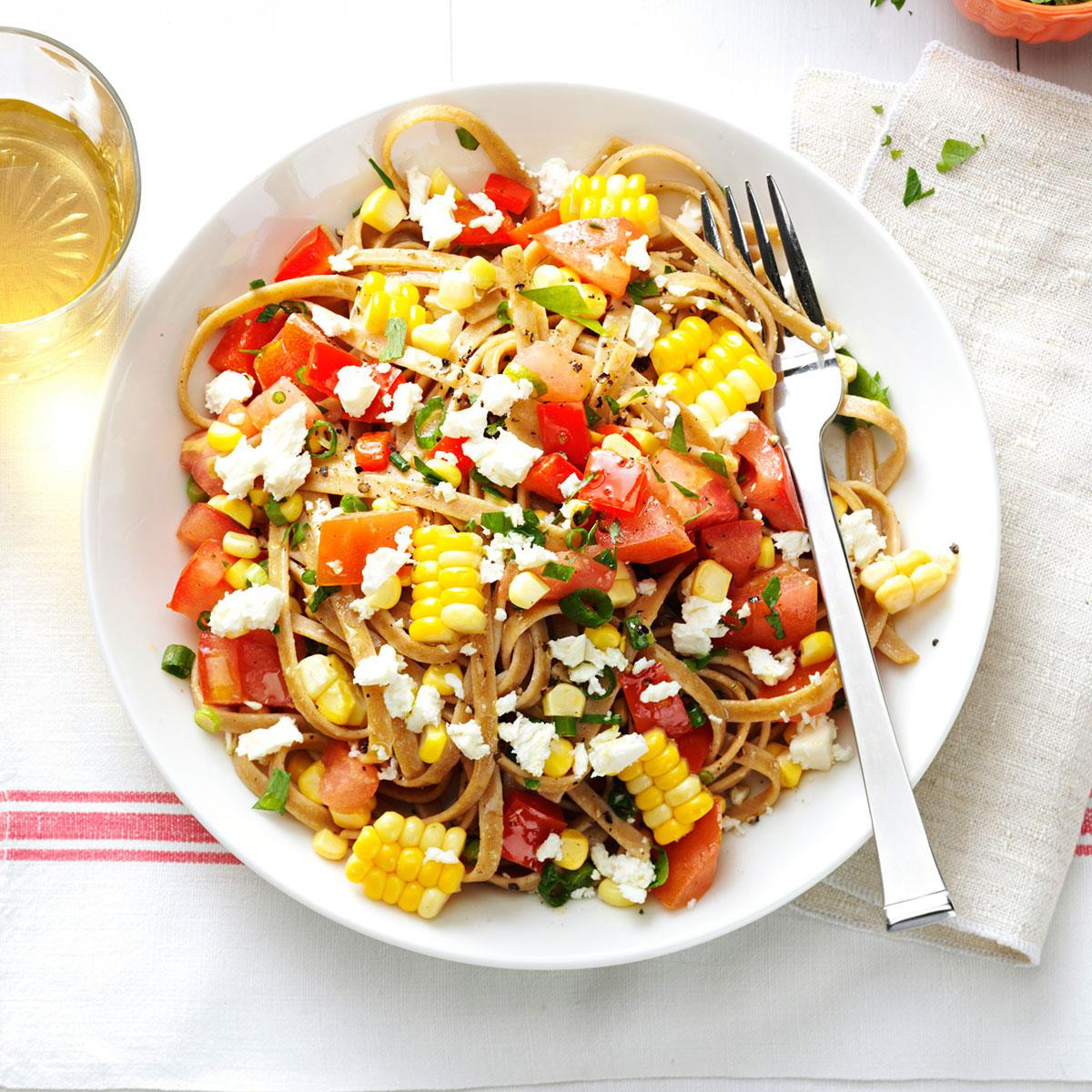 Healthy Dinners To Make At Home  Fresh Corn & Tomato Fettuccine Recipe