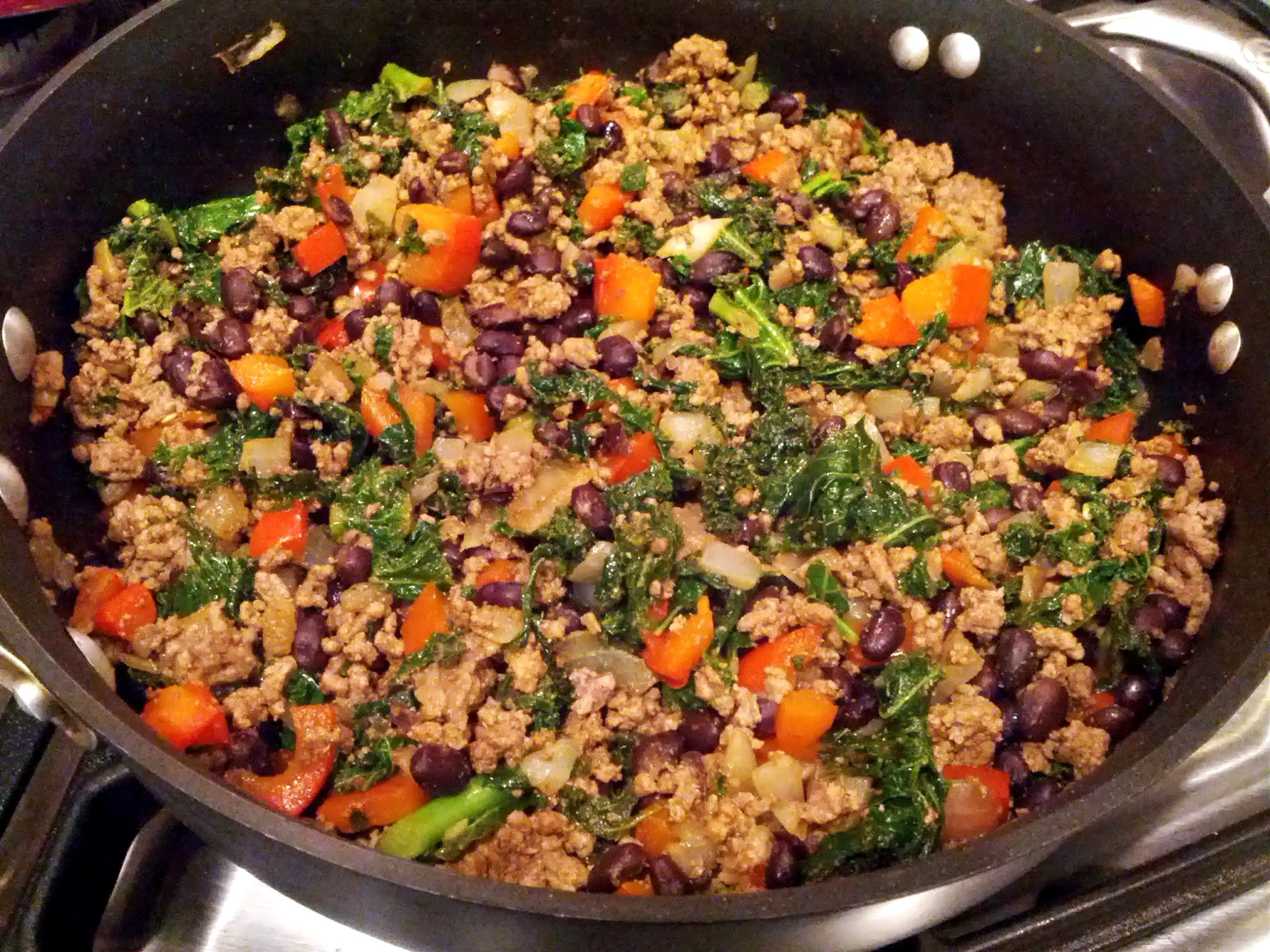 Healthy Dishes With Ground Turkey  Kale and Ground Beef Turkey Taco Filling