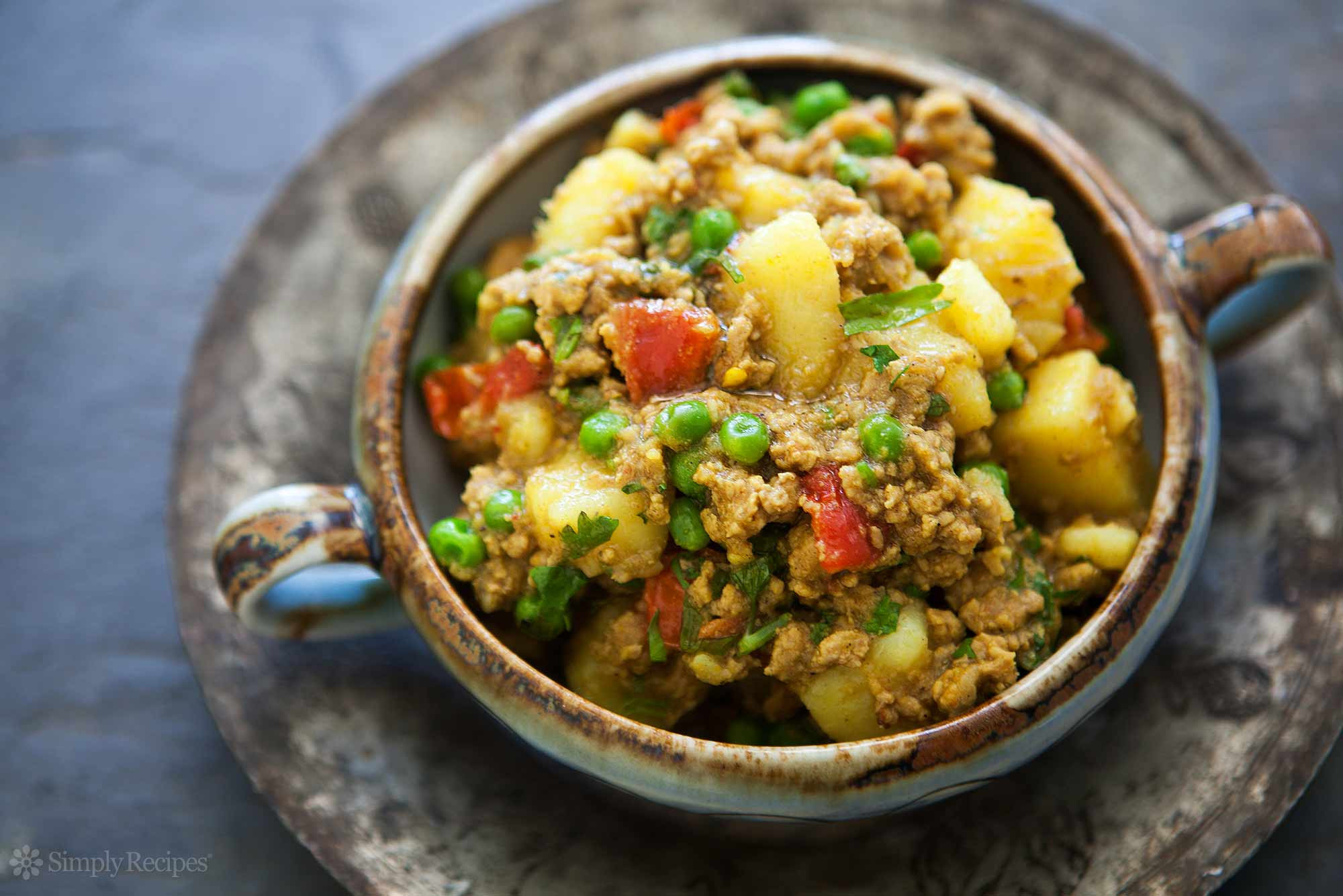 Healthy Dishes With Ground Turkey  Curried Ground Turkey with Potatoes Recipe