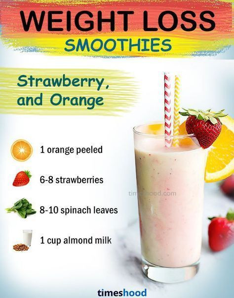 Healthy Drink Recipes For Weight Loss  Strawberry orange green smoothie for weight loss fat