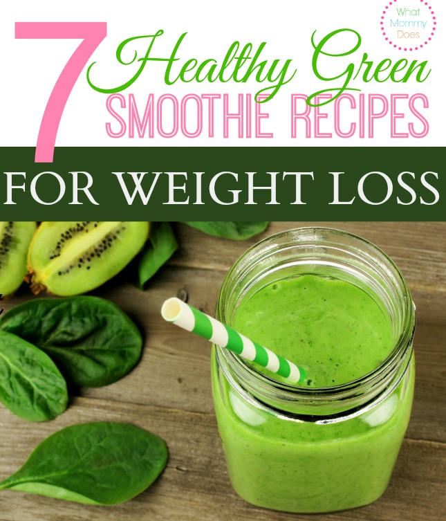 Healthy Drink Recipes For Weight Loss  7 Healthy Green Smoothie Recipes for Weight Loss