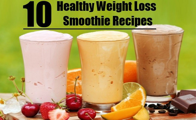 Healthy Drink Recipes For Weight Loss  10 Healthy Weight Loss Smoothie Recipes