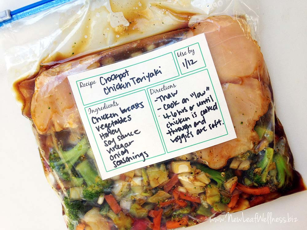 Healthy Dump Dinners  Six healthy freezer crockpot meals in 50 minutes
