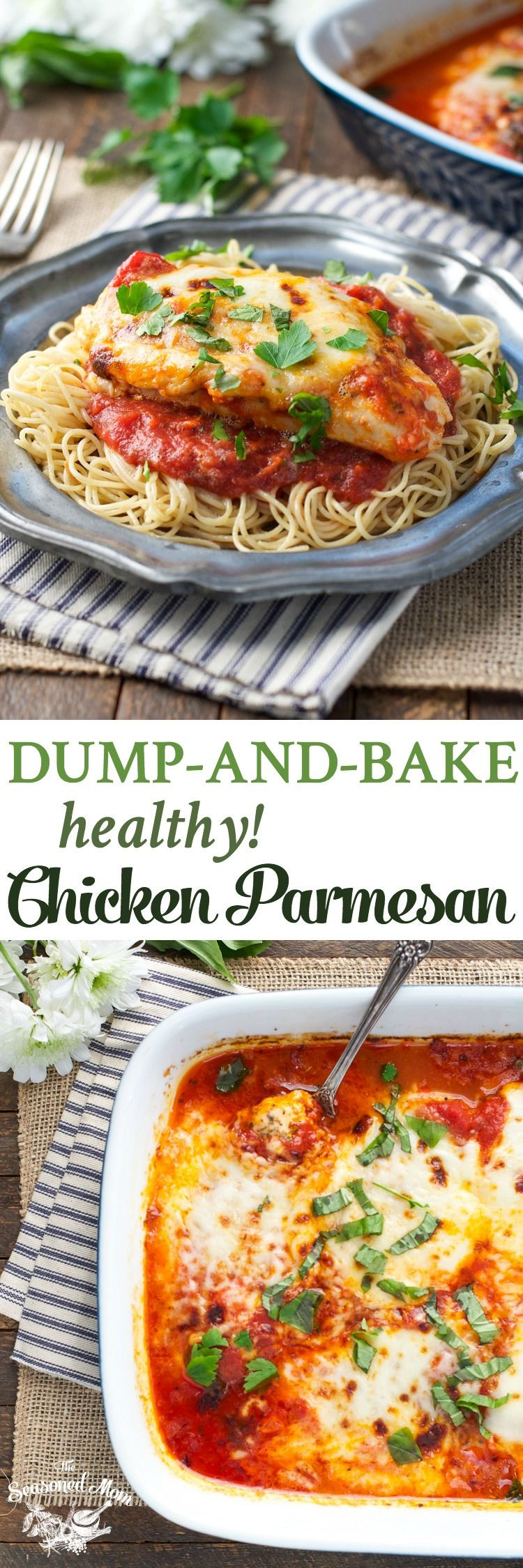 Healthy Dump Dinners  Dump and Bake Healthy Chicken Parmesan Recipe