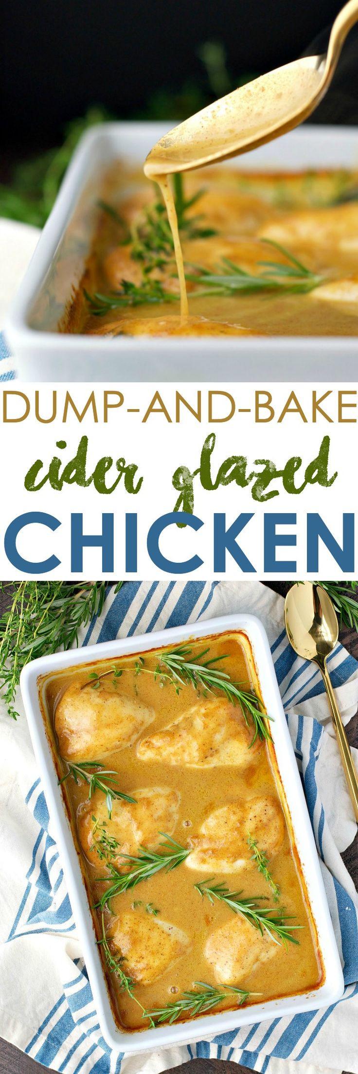 Healthy Dump Dinners  Dump and Bake Cider Glazed Chicken Recipe