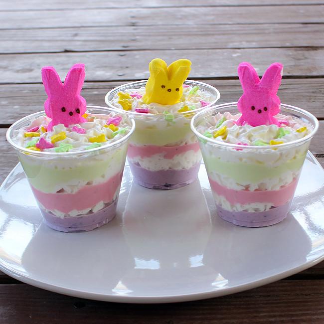 Healthy Easter Snacks  Layered Easter Yogurt Treats