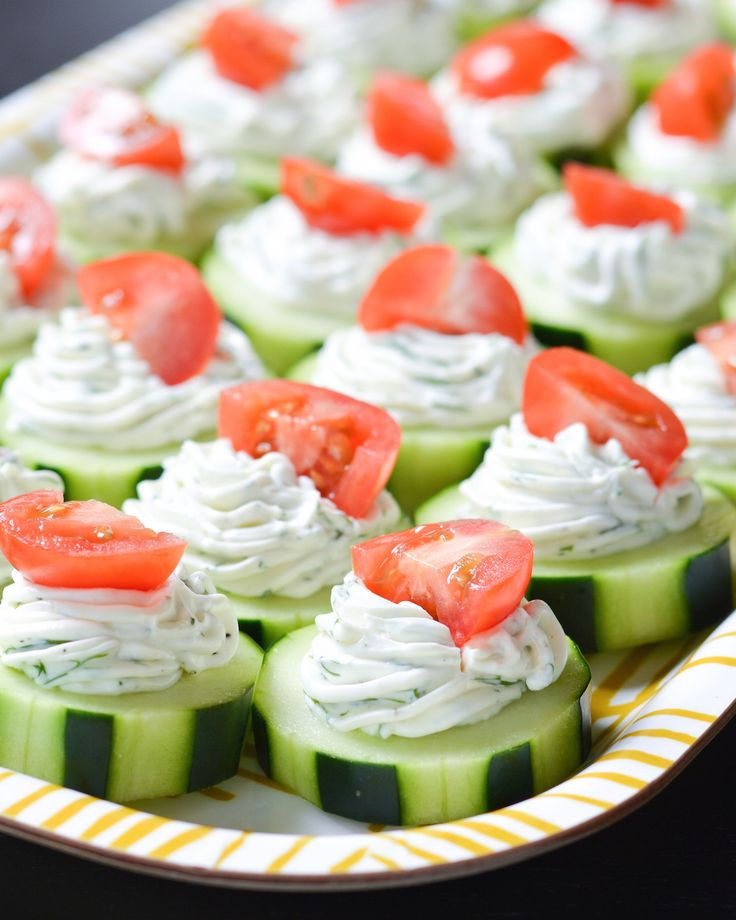 Healthy Easy Appetizers  17 best ideas about Cucumber Appetizers on Pinterest