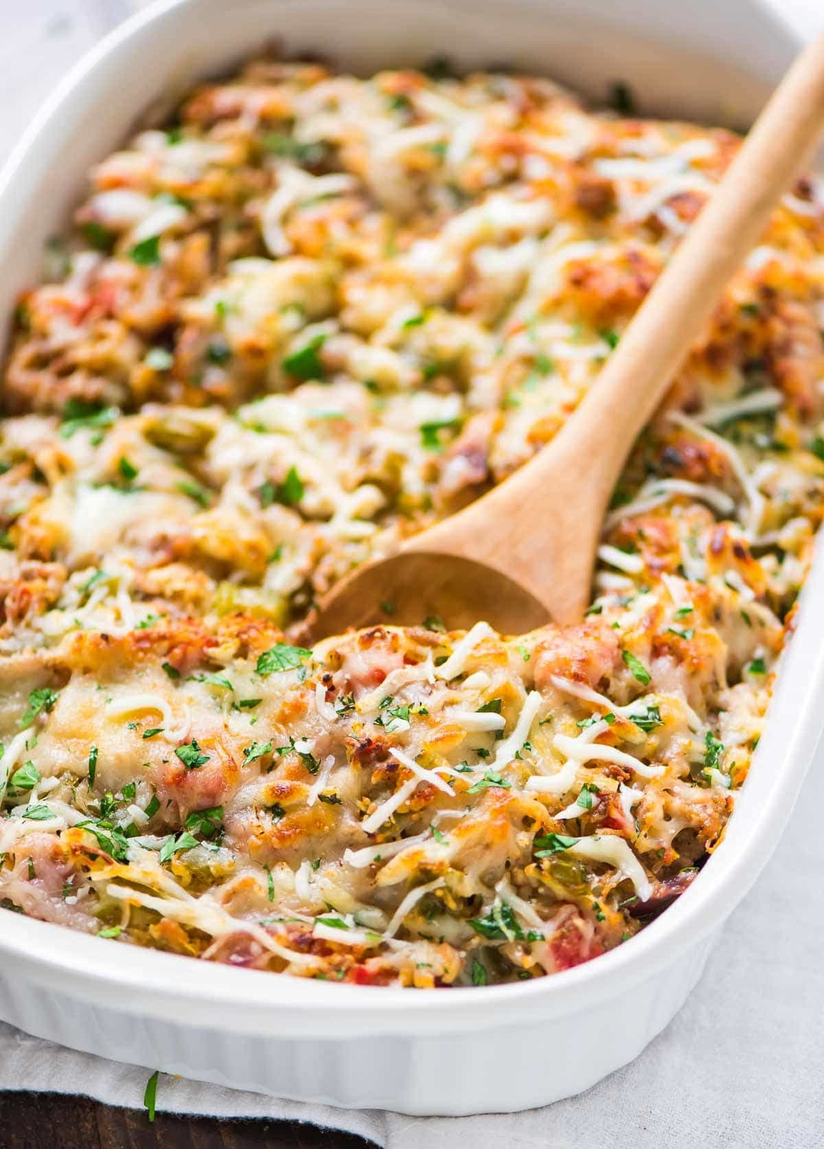 Healthy Easy Casseroles  Spaghetti Squash Casserole