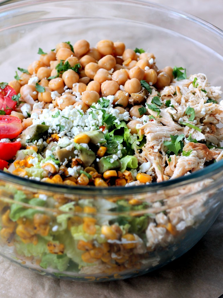 Healthy Easy Salads  Healthy Chicken Chickpea Chopped Salad