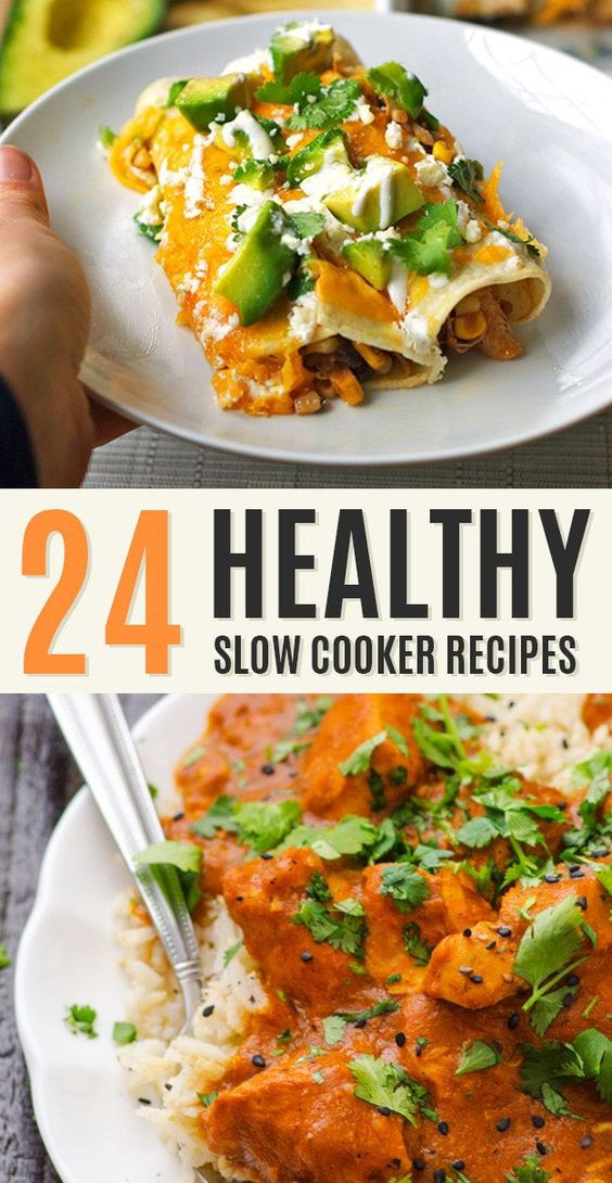Healthy Easy Slow Cooker Recipes  Healthy crockpot recipes Slow cooker chicken and Chicken