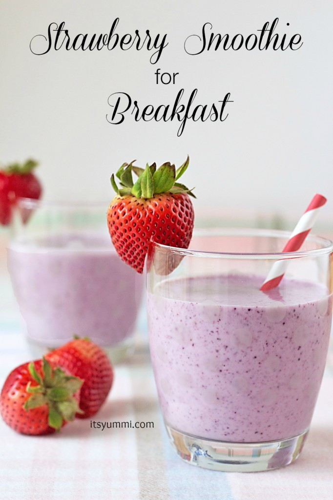 Healthy Easy Smoothie Recipes  Easy Strawberry Smoothie Recipe – 3 Boys and a Dog