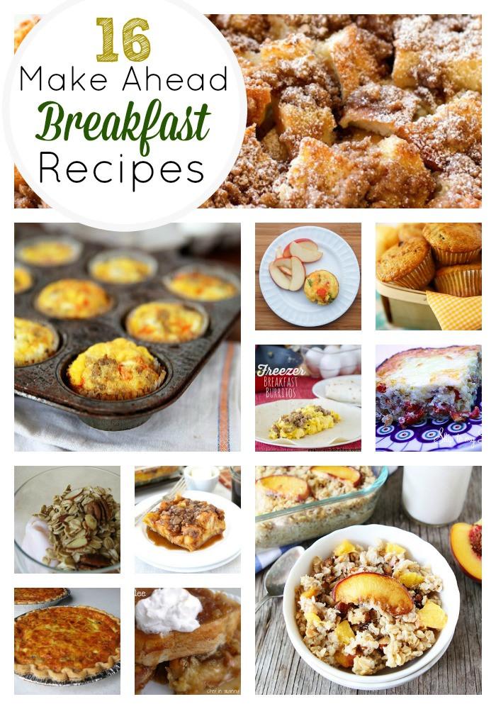 Healthy Easy To Make Breakfast  16 Amazing Make Ahead Breakfast Recipes