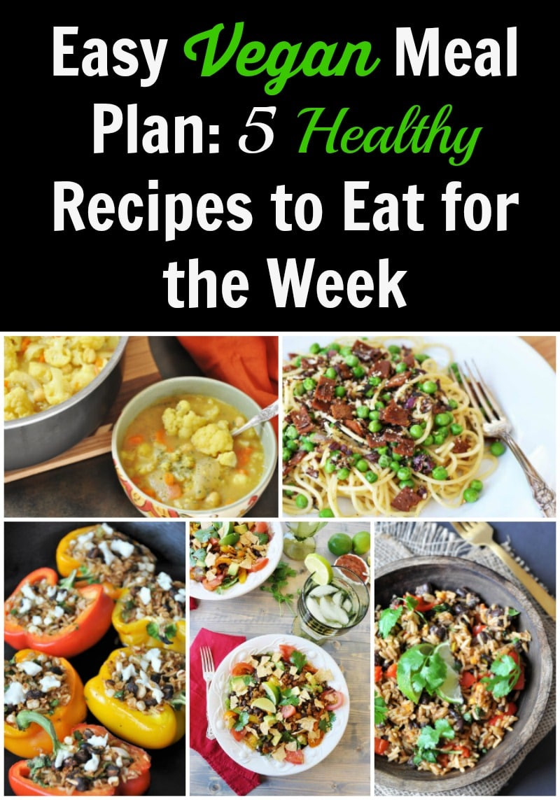 Healthy Easy Vegan Recipes  Easy Vegan Meal Plan 5 Healthy Recipes to Eat for the