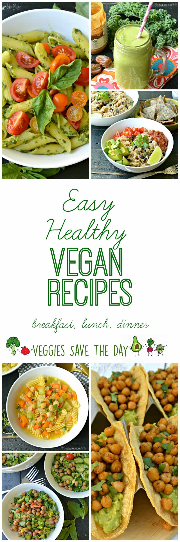 Healthy Easy Vegan Recipes  Easy Healthy Vegan Recipes Veggies Save The Day