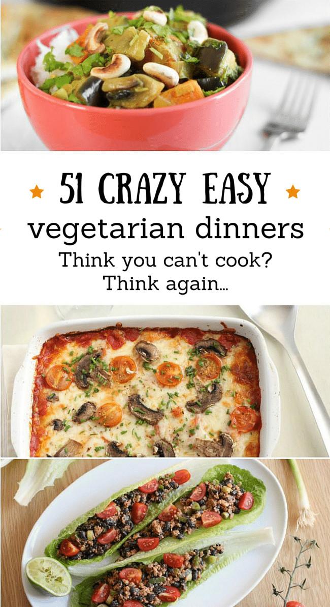 Healthy Easy Vegetarian Recipes  ve arian recipes easy