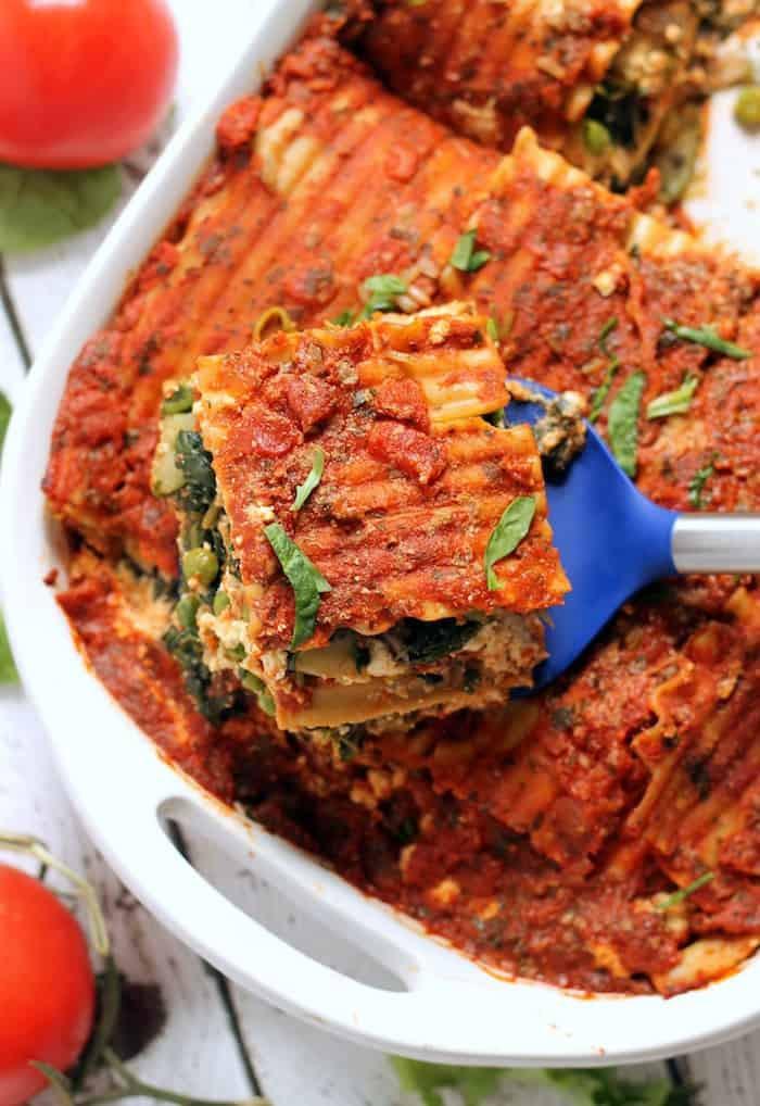 Healthy Easy Vegetarian Recipes  The Best Easy Vegan Lasagna Hummusapien