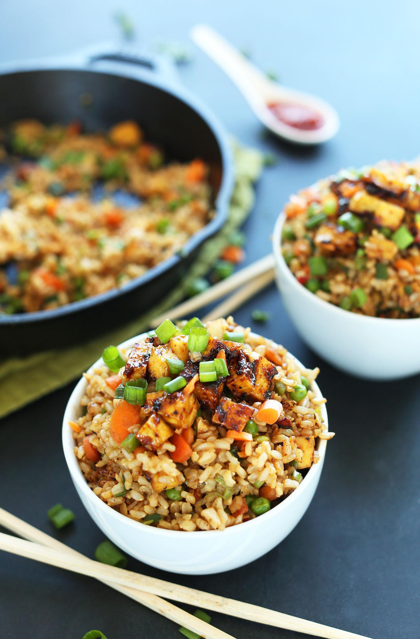 Healthy Easy Vegetarian Recipes  Vegan Fried Rice