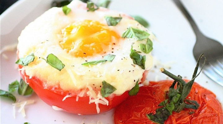Healthy Egg Breakfast Weight Loss  Weight Loss Recipes For Women Baked Eggs In Tomato Cups