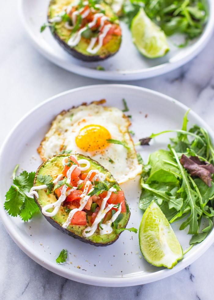 Healthy Egg Breakfast Weight Loss  Weight loss Salsa Stuffed Avocado & Eggs Breakfast Paleo