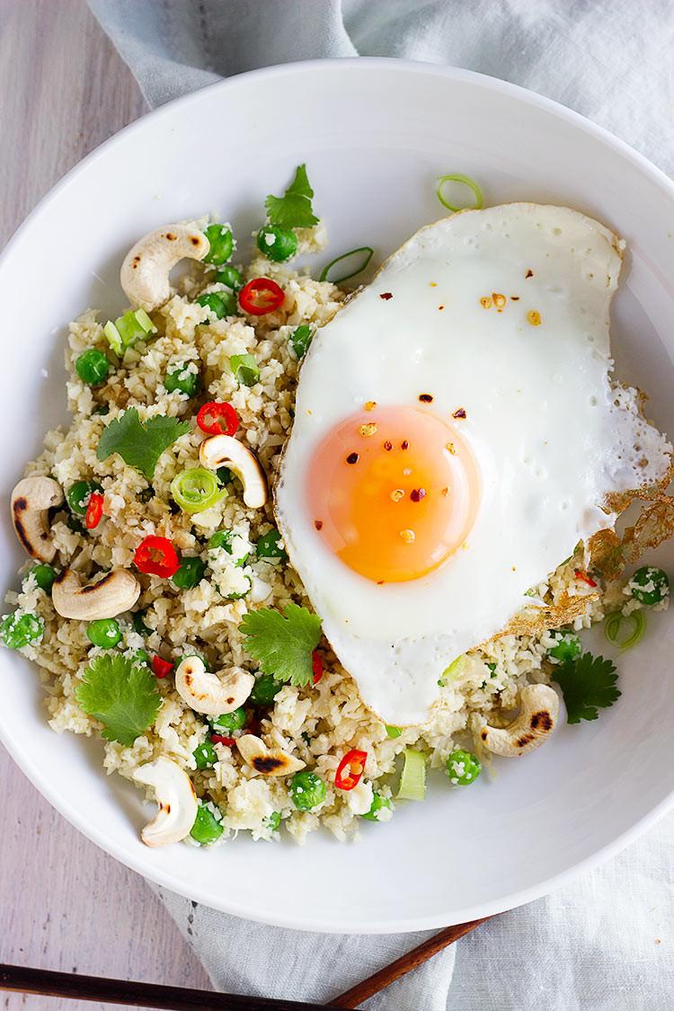 Healthy Egg Fried Rice  Healthy Egg Fried Rice Made with Cauliflower Sprinkle