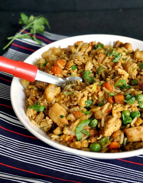 Healthy Egg Fried Rice  Healthy Chinese Chicken Egg Fried Rice Recipe My