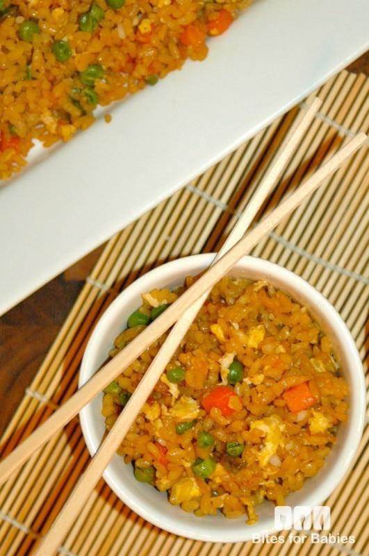 Healthy Egg Fried Rice  Healthy Egg Fried Rice Recipe Bites for Foo s