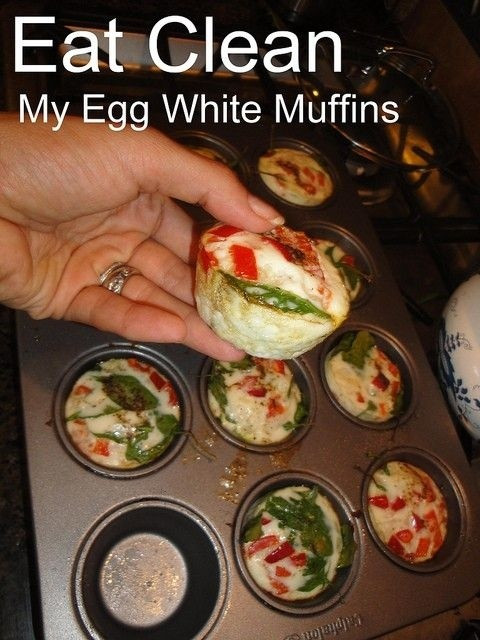 Healthy Egg White Breakfast  Healthy Breakfasts Egg White Muffins Just made the mini