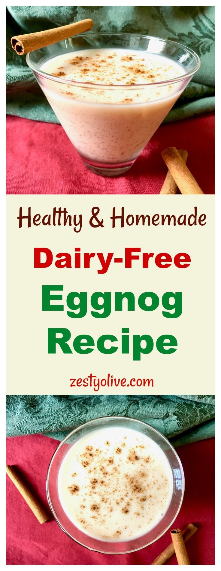 Healthy Eggnog Recipe  Healthy Homemade Dairy Free Eggnog Recipe Zesty Olive