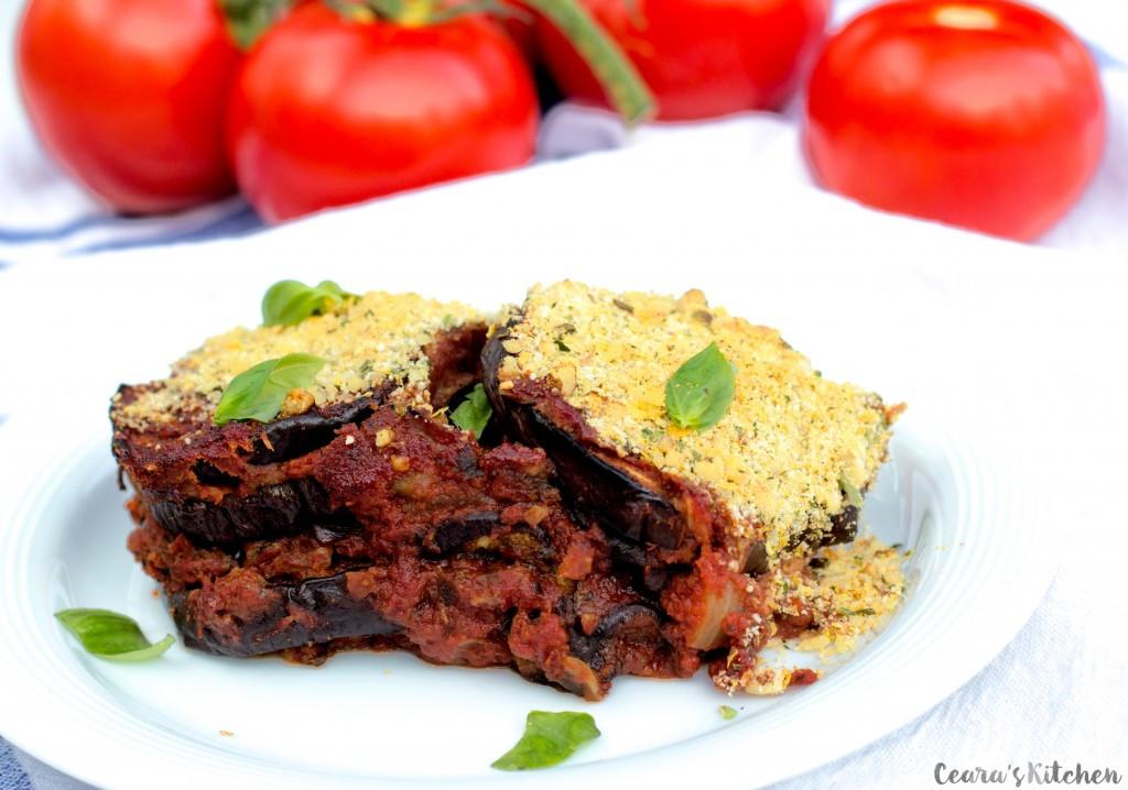 Healthy Eggplant Parmesan  Vegan Eggplant Parmesan Ceara s Kitchen