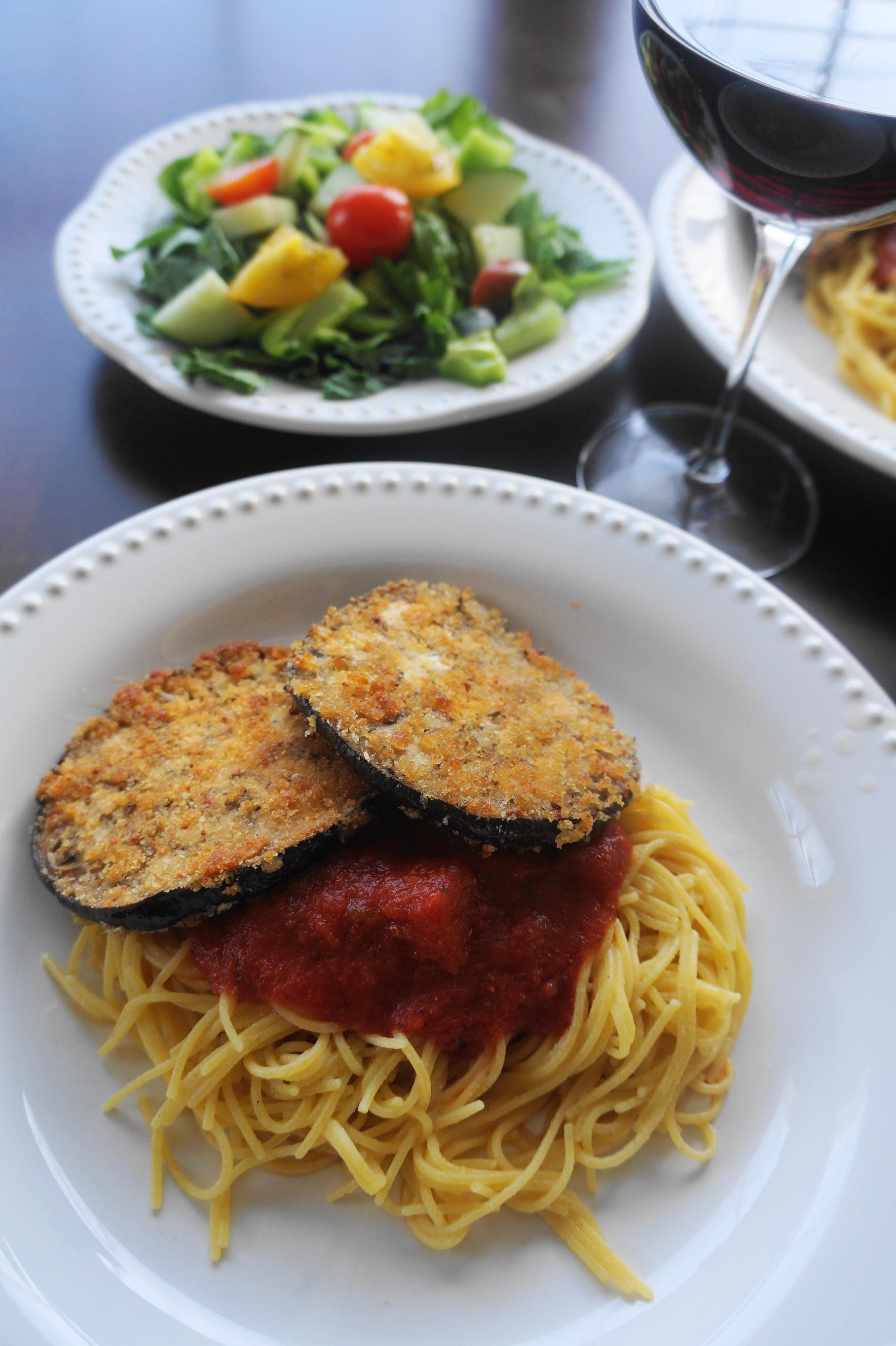 Healthy Eggplant Parmesan  Vegan or not Eggplant Parmesan V Busy Girl Healthy World