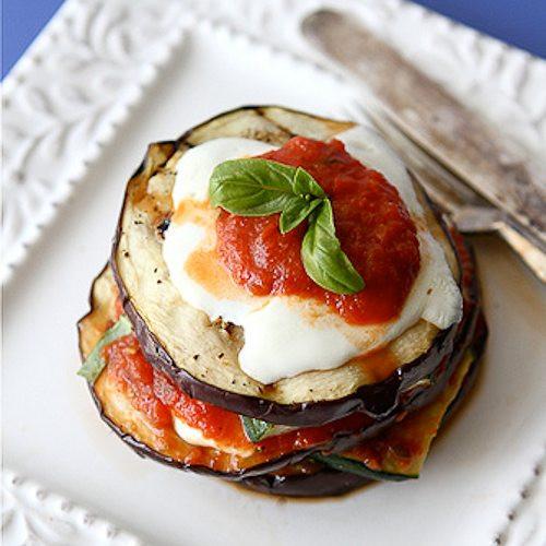 Healthy Eggplant Parmesan  Grilled Zucchini & Eggplant Parmesan Recipe Ve arian