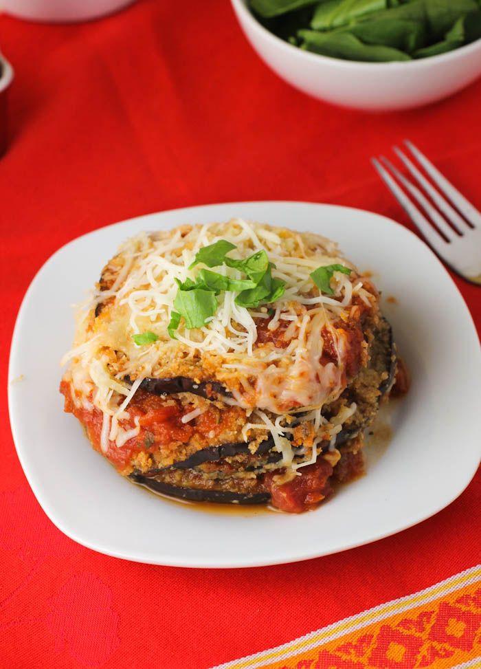 Healthy Eggplant Parmesan  25 best ideas about Healthy eggplant parmesan on