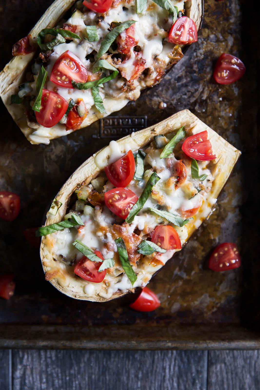 Healthy Eggplant Recipes  Julie's Stuffed Eggplant Boats