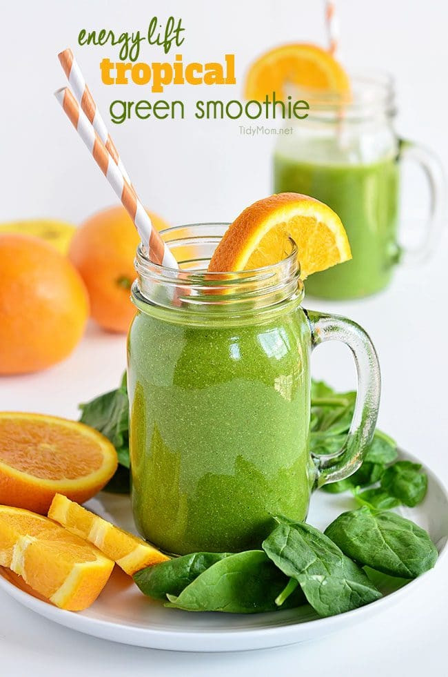 Healthy Energy Smoothies  Energy Lift Green Smoothie