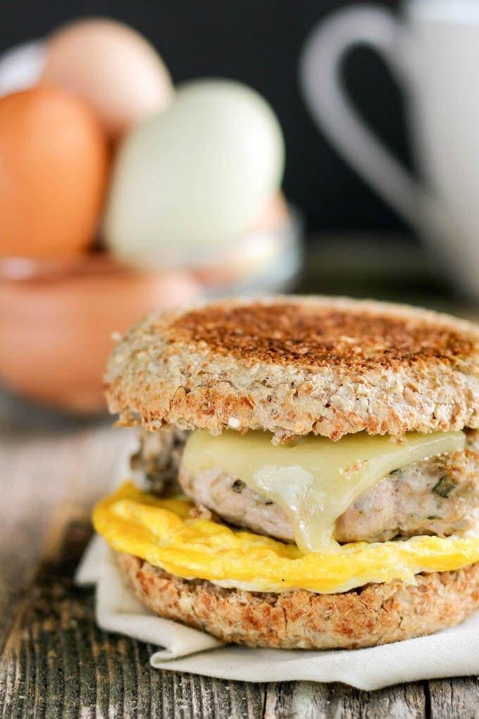 Healthy English Muffin Breakfast Sandwich  Healthy Freezer Friendly Breakfast Sandwiches