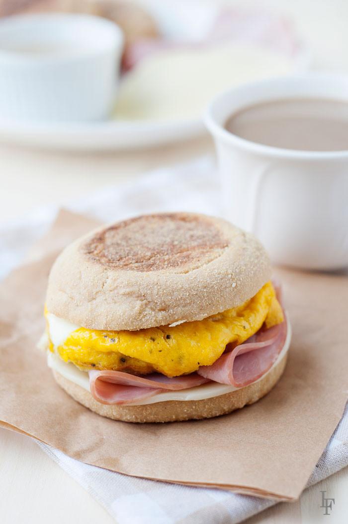 Healthy English Muffin Breakfast Sandwich  Homemade English Muffin Breakfast Sandwiches