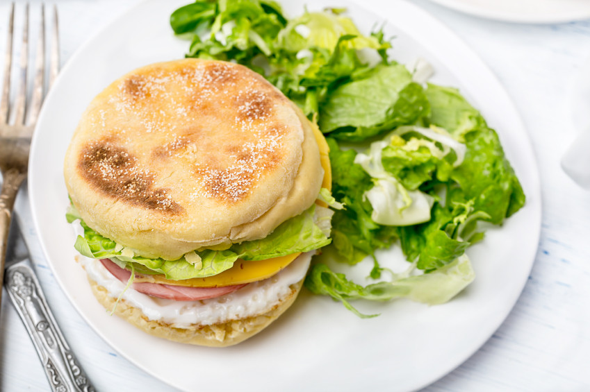 Healthy English Muffin Breakfast Sandwich  6 Tasty Sandwiches You Can Eat and Still Lose Weight