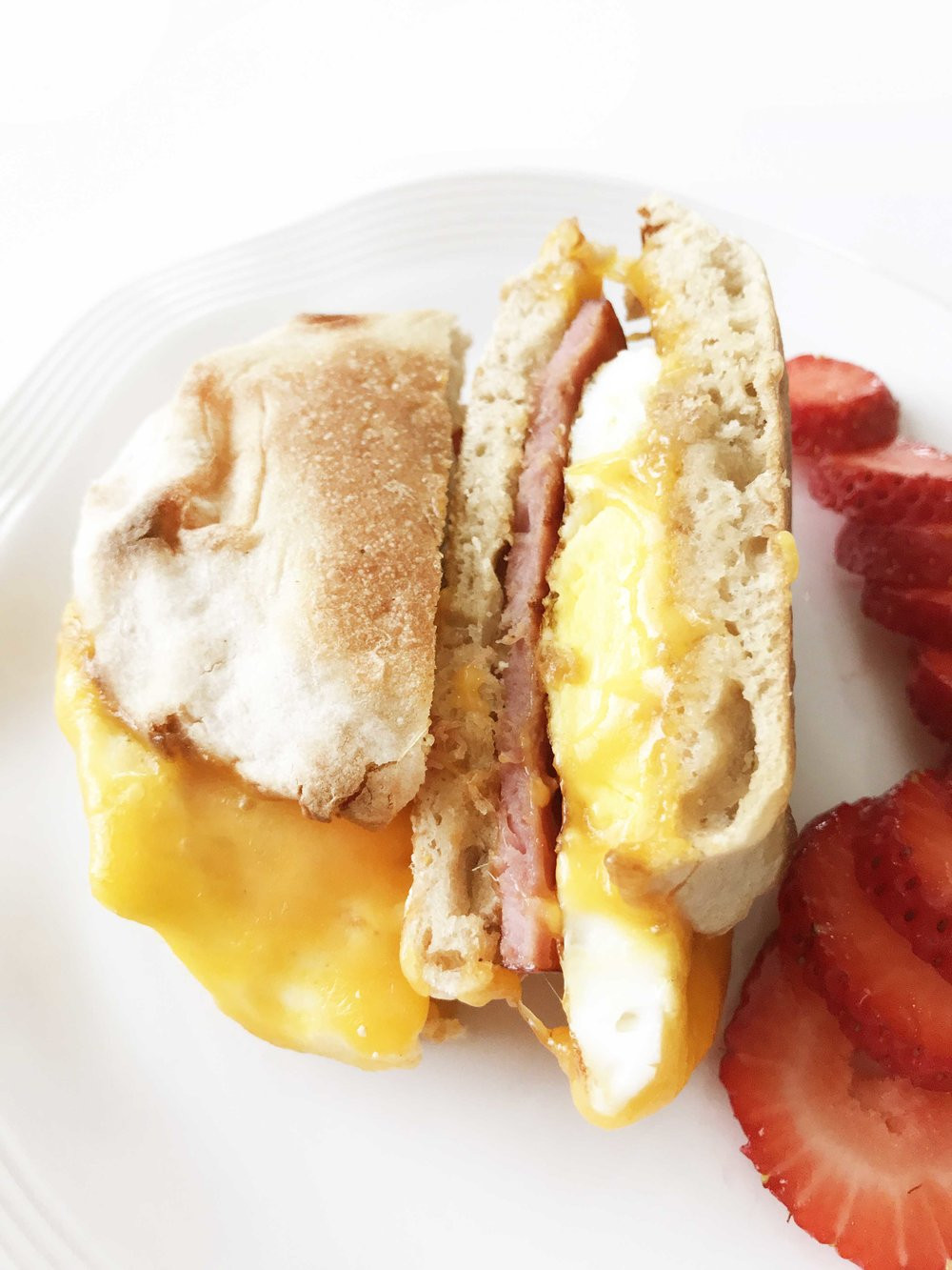 Healthy English Muffin Breakfast Sandwich  Healthified Egg McMuffin — The Skinny Fork