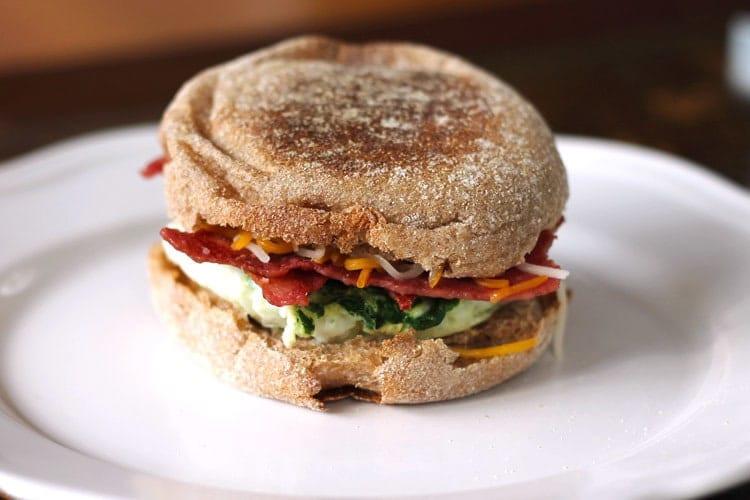 Healthy English Muffin Breakfast Sandwich  5 Minute Healthy Breakfast Sandwich Smile Sandwich