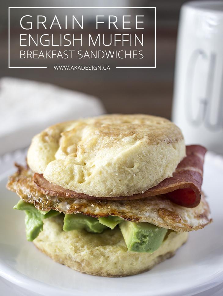 Healthy English Muffin Breakfast Sandwich  Grain Free English Muffin Breakfast Sandwiches