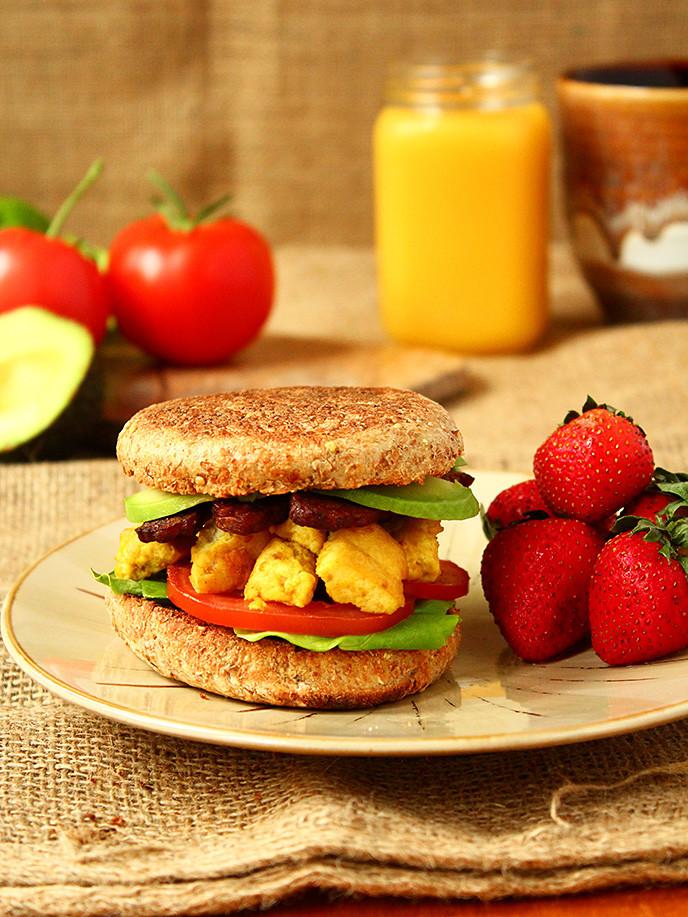 Healthy English Muffin Breakfast Sandwich  healthy english muffin breakfast